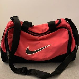 Nike Black & Pink Gym Duffle Bag